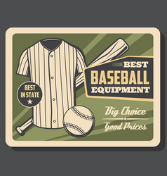 baseball sport player equipment store vector image