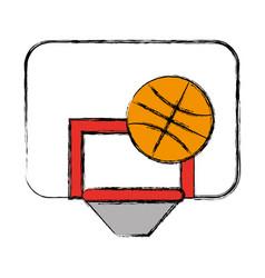 basketball ball and board icon vector image