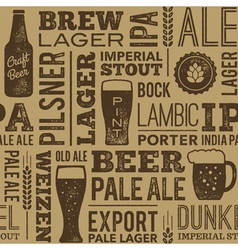 Beer Pattern 02B vector image