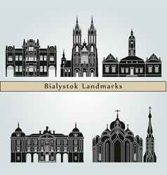Bialystok landmarks vector