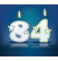 Birthday candle number 84 vector