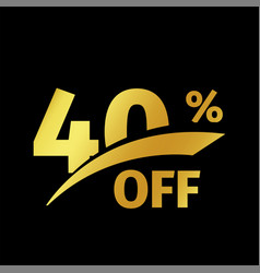 Black banner discount purchase 40 percent sale vector