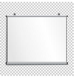 blank presentation screen vector image