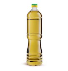 Bottle oil plastic bottle isolated on white vector