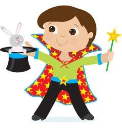 Boy magician vector