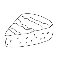 Briedifferent kinds of cheese single icon in vector