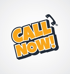 Call now sign vector