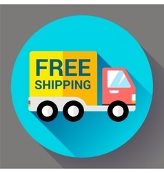 Car Shipping icon Fast and free delivery concept vector