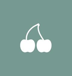 cherry icon simple vector image