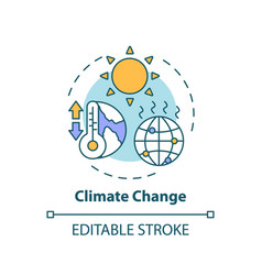 Climate change concept icon vector