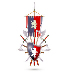 Coat of arms to fantasy style vector