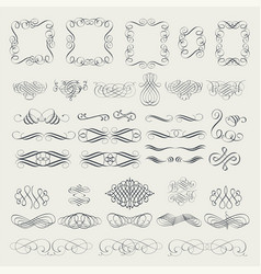 Collection calligraphic elements vector
