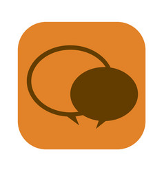 Color square with speech bubble icon vector