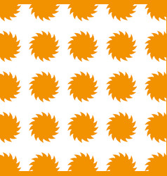 Colorful pattern suns shape icon vector