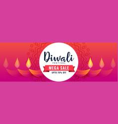 Creative happy diwali sale banner design vector