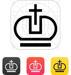 Crown Pope icons vector