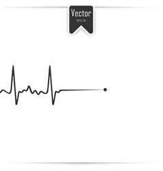 death icon cardiac arrest cardio vector image