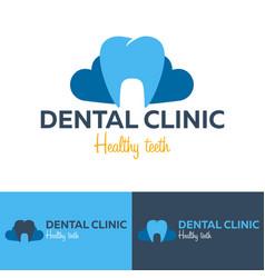 dental logo dental clinic dentist logo vector image