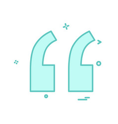 double quotes icon design vector image