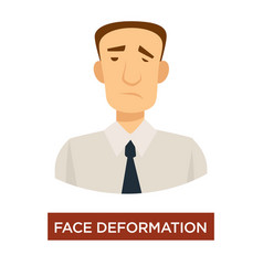 Face deformation stroke symptom disease prevention vector
