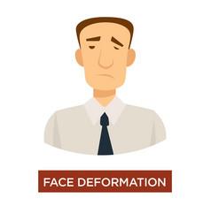 face deformation stroke symptom disease prevention vector image