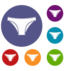 female cotton panties icons set vector image
