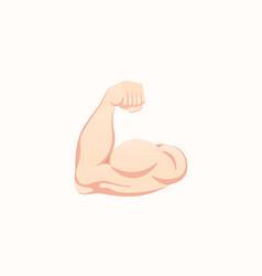 Flexed biceps icon hand gesture emoji vector