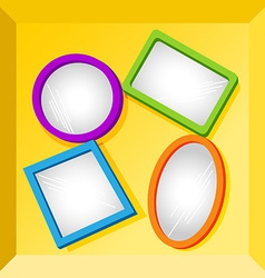 Frames or mirrors at bottom of a box vector image