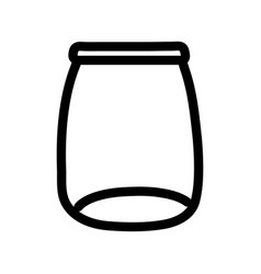 glass jar empty object icon thick line vector image