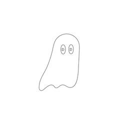 halloween ghost flat icon vector image