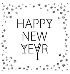 Happy New Year Holiday With Lettering Composition vector