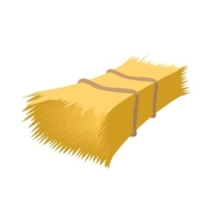Haystack cartoon icon vector