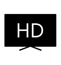 hd television silhouette icon tv video symbol vector image