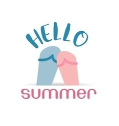 Hello summer beach sneaker web icon vector