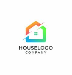 house logo icon real estate logo vector image