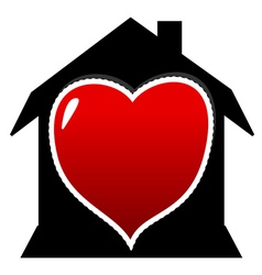 I love home vector image