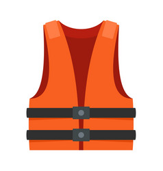 Lifeguard vest icon flat style vector