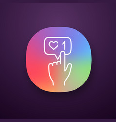 like counter button app icon vector image