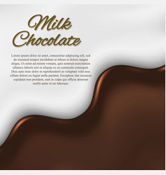 Liquid chocolate background vector