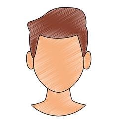 Man faceless head scribble vector