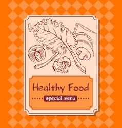 menu with healthy food vector image
