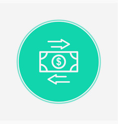 money transaction icon sign symbol vector image