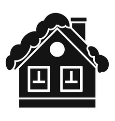 mountain cabin icon simple style vector image