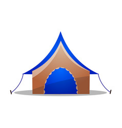 Multi-colored camping ridge tent raster vector