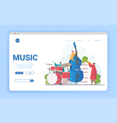 musical ensemble playing instruments vector image
