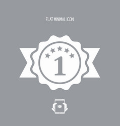 Number one symbol icon vector