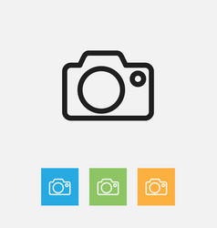 Of folks symbol on camera vector