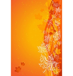 Orange autumn background vector image