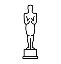 Oscar statue icon outline style vector