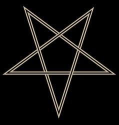 Pentagram sign lucifer black magic vector